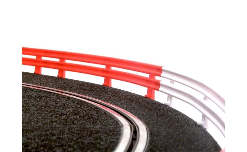 12 X CRASH BARRIERS (6 RED+ 6 WHITE)